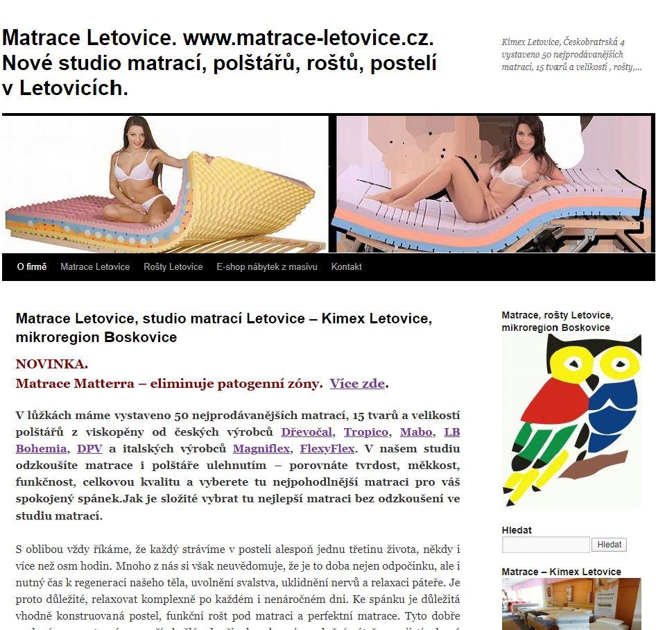 Studio matrací Letovice