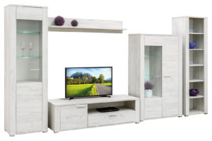 Obývací stěna Adel - bílá